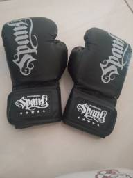 Título do anúncio: Luva de boxe e Muay Thai Spank- Infantil 60z preto
