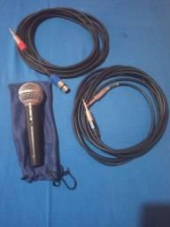 Microfone LESON  e dois cabos 5M cada.