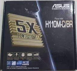 Placa Mãe Asus H110M-C/BR + Processador Intel Core i5 7400