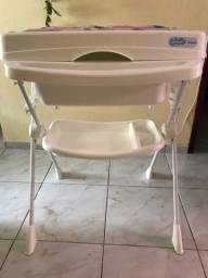 Título do anúncio: Banheira com trocador infantil