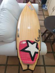 Shortboard fantasy triple wing powerlight 6'0'' epóxi madeira acessórios incluídos