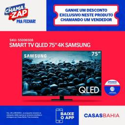 Smart tv Samsung e caixa Jbl