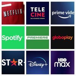 Título do anúncio:  Netflix, Globoplay, Prime video, Telecine, e Star+