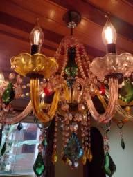 Título do anúncio: Lustre Candelabro arco-íris de cristal lâmpadas de led tipo vela inclusas.