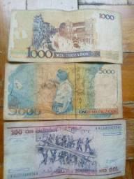 Notas antigas por apenas 5 reais cada.