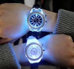 Relógio Feminino Led com 7 cores
