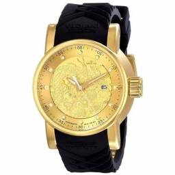 Relógio Invicta Yakuza Dourado Dragon
