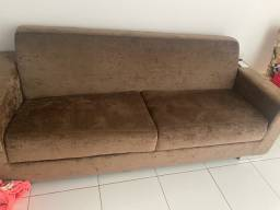 Sofá tecido cor chocolate