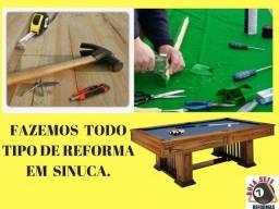 Título do anúncio: Restauração De Sinucas Qualquer Modelo