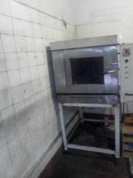 Forno de padaria para 4 esteira baixei preço pra vender logo
