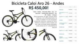 Bicicleta Caloi Andes Aro 26 - Nova - Na Caixa