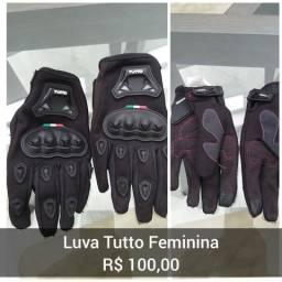Luva motociclista Tutto Feminina