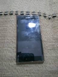 Sony M4 Aqua com tela quebrada