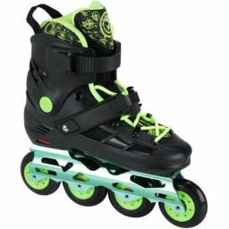 Patins Oxer Freestyle - In Line - Freestyle / Slalom - ABEC 9 - Base de Alumínio!