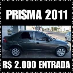 Prisma 2011 R$ 2.000 entrada + 48X ( Ac moto de entrada e parcelo entrada no cartão ) - 2011