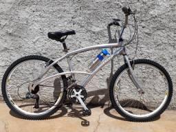 Vendo ou troco Bicicleta Caloi alumínio aro 26 R$ 350
