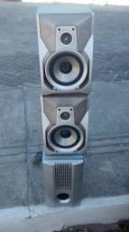 Caixa de som em perfeito estado de conservação