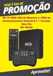 PROMOÇÃO Kit Tv Box 3gb/16gb Transforme sua TV em Smart TV com Teclado