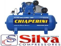 Compressor ar 15 pés 175 libras - Chiaperini