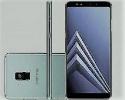 Smartphone Samsung Galaxy A8+ 64GB Ametista - Dual Chip 4G Câm. 16MP + Selfie 16MP + 8MP T