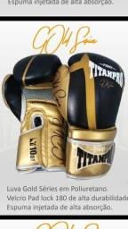 Luva de Boxe Titan Pro Gold Séries 16 Oz