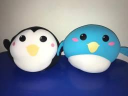 Almofada de pinguim e pássaro