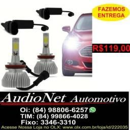 Lampada Super Led Automotivo H1 H3 H4 H7 H8 H11 Hb3 Hb4 h27 4400Lm 6000k Carro Xenon
