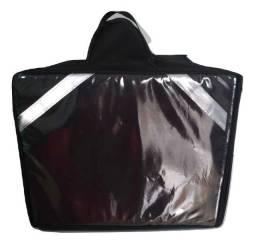 Bolsa bag pizzaria motoqueiro preta ou vermelha (novas promoção) varias unidades