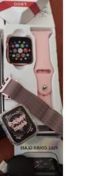 Relógio Inteligente Iwo12 T600 +  Pulseira Aço