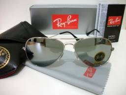 Óculos Rayban espelhado aviador novo original comprado Goldfinger comprar usado  Taubaté