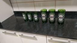 Jogo de copo da Heineken seminovos-6 unidades