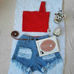 Shorts jeans e Cropped