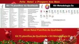 Kit 75 planilhas da Qualidade + kit Metodologia 5S