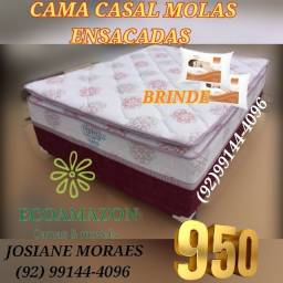 Título do anúncio: CAMA MOLAS ENSACADAS ___CASAL ?PREÇO PROMOCIONAL