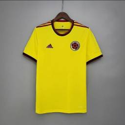 Camisa da Colômbia 2021 Copa América / Camisa de Futebol Importada
