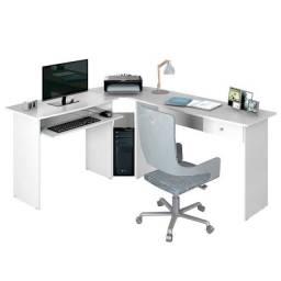 Mesa Para Computador Escrivaninha Branca