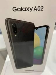 Samsung A02 Novo na caixa