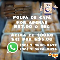 Polpa de cajá R$7,00 o 1Kg, Acima de 100Kg sai por R$5,00