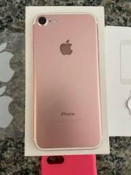 Título do anúncio: Vendo Iphone 7 Rosê 32 gb (na caixa com todos os acessórios)