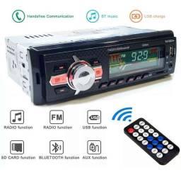 Rádio Automotivo MP3 Bluetooth, FM, USB, Cartã