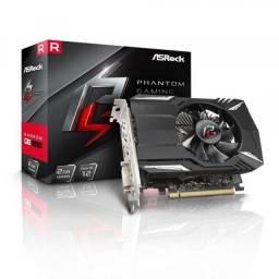 Placa de Vídeo ASRock Amd Radeon RX550 2GB Phantom Gaming Gddr5