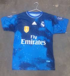 Camisa De Futebol Azul Real Madrid Star Edition Tern<br><br>
