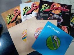 Coleção Revista e Vinil compacto Rock Espetacular 1 2 3