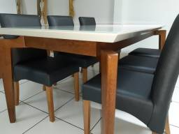 Imperdível.  Mesa madeira + 6 cadeiras  Fernanda