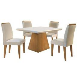 Título do anúncio: Mesa de jantar Luna c/4 cadeiras