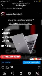 Título do anúncio: Notebook Samsung em promoção seminovo