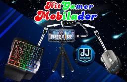 Kit Gamer barato para Mobilador e PC/Notebook. Teclado, Mouse, HUB, OTG adaptador e tripé