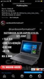 Título do anúncio: Notebook Acer aspire em promoção seminovo