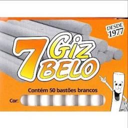 Caixa de Giz Escolar Branco Marca 7 Belo com 50 bastões