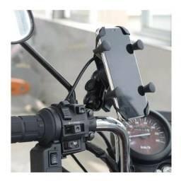 Título do anúncio: Suporte de Celular para moto com Carregador e Garra (Entregamos na sua casa)